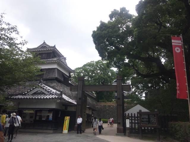 熊本城に。