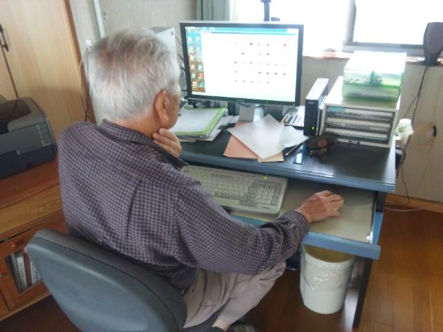 パソコンの師匠。