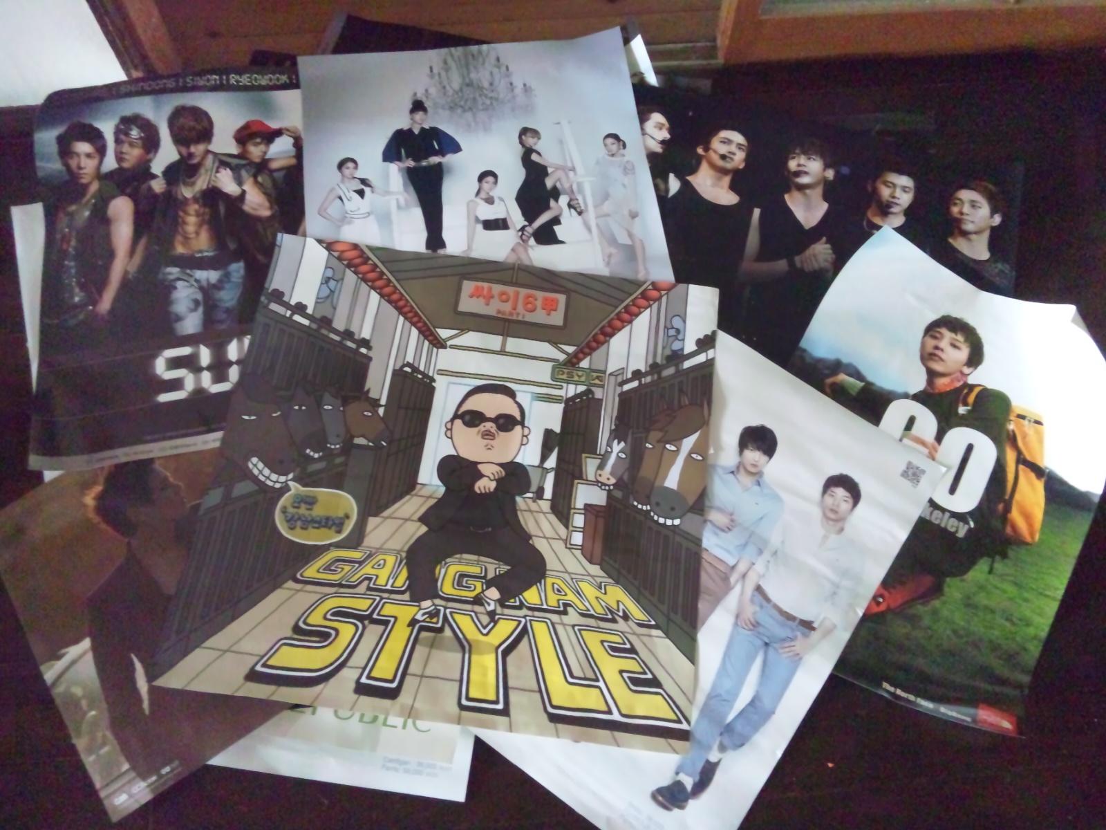 K -pop のポスター。
