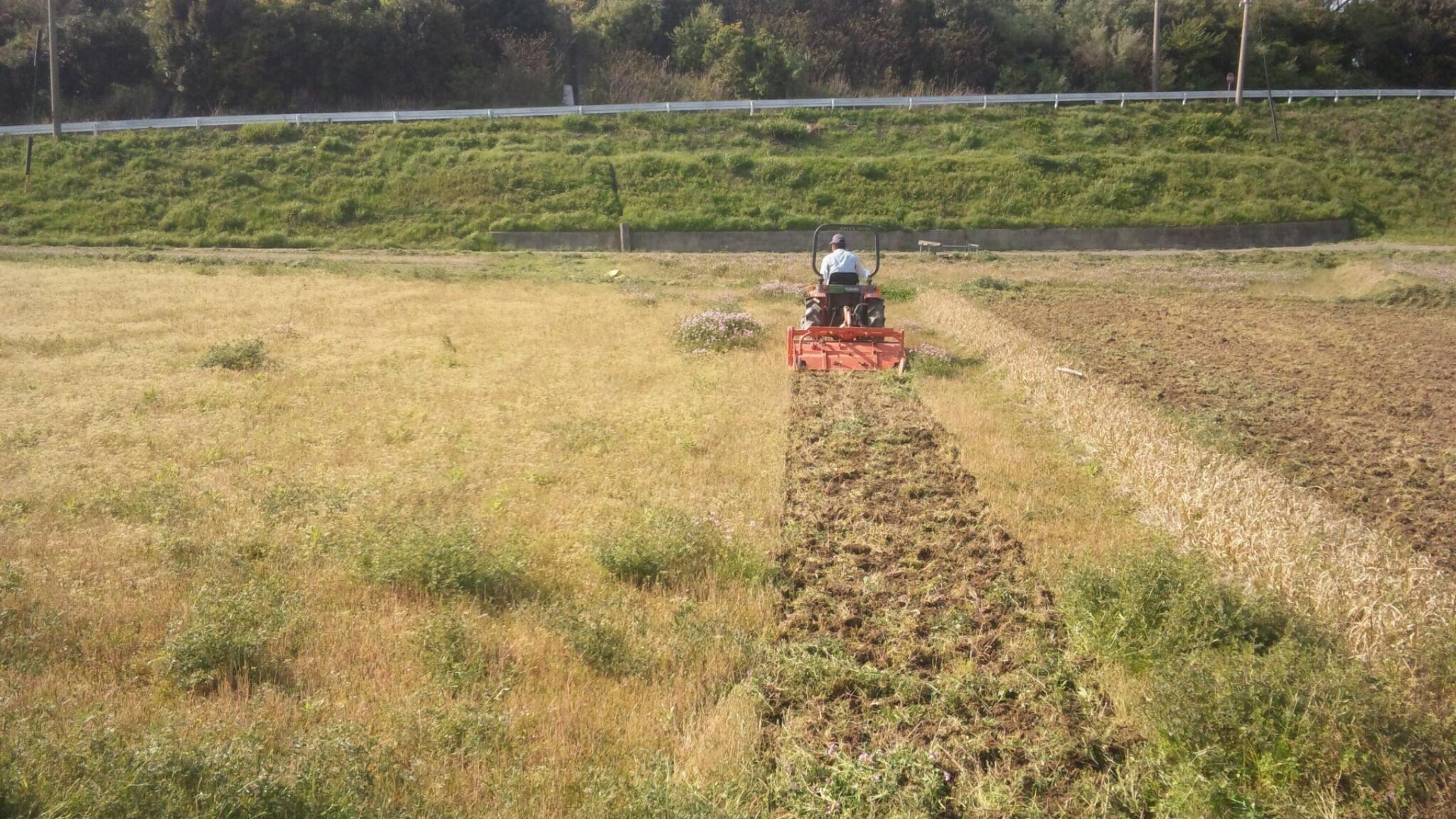 農作業…。